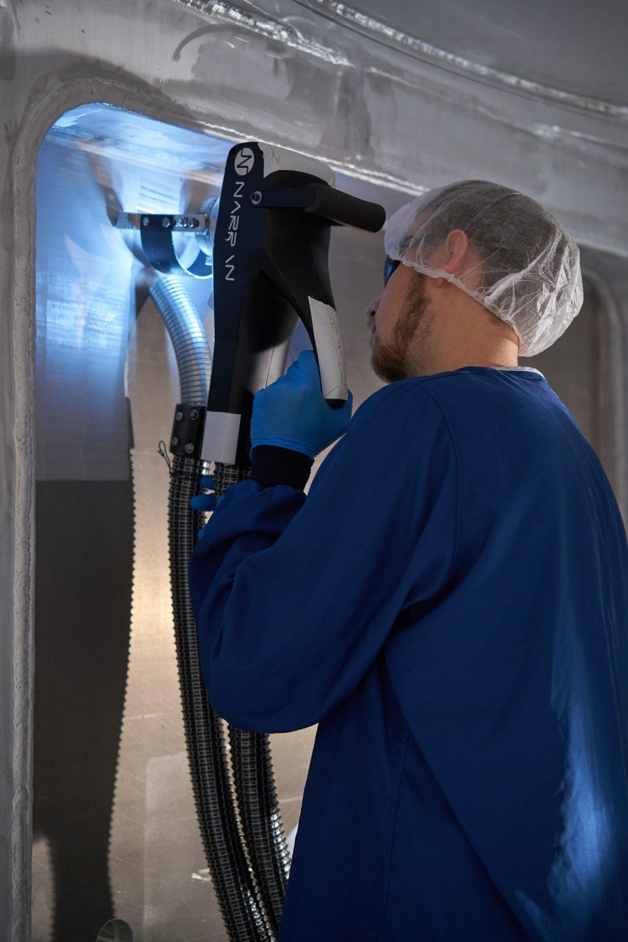 čištění laserem, odmašťování laserem