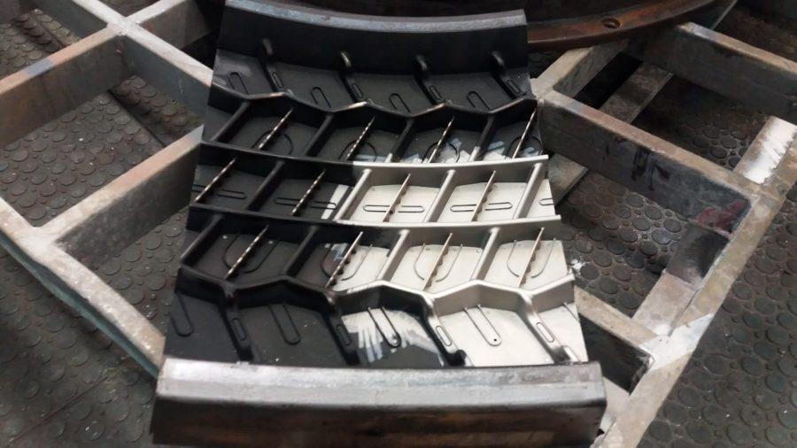 tire mould, gumárenská forma-čištění
