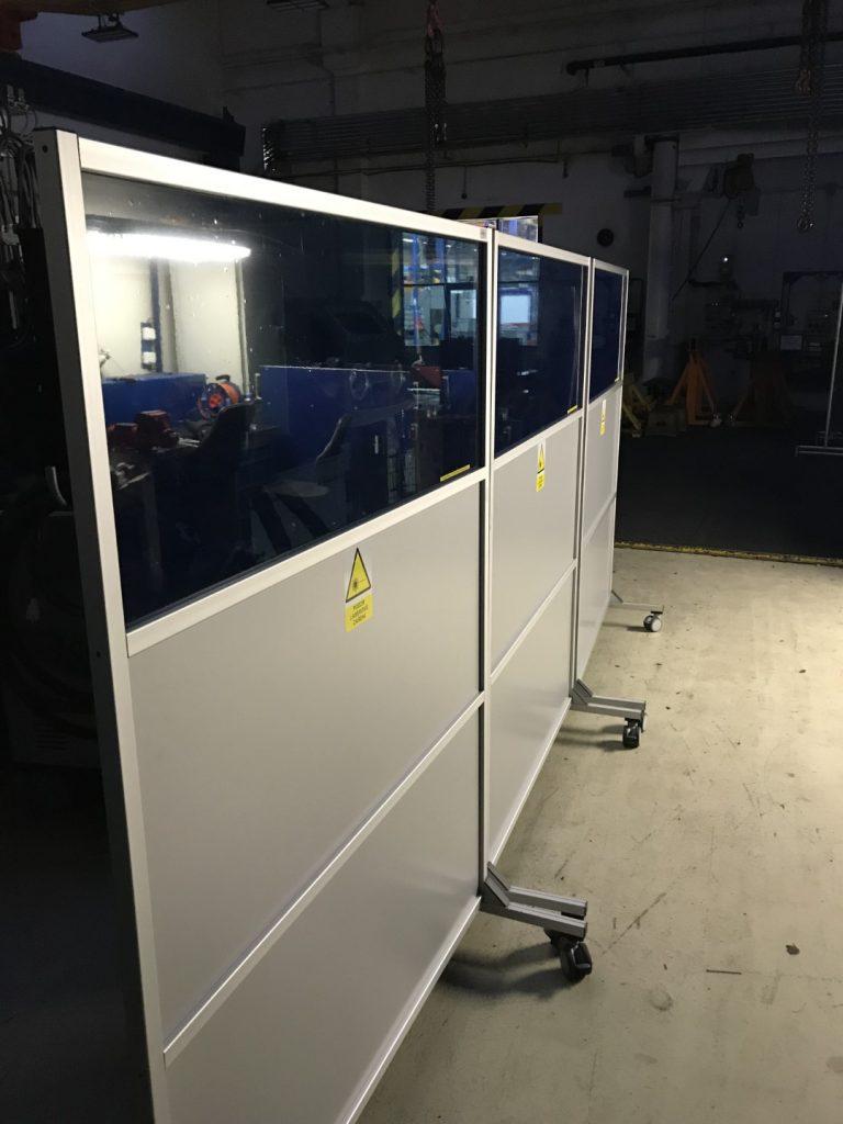 laser protection barriers, laserová ochrana, laserová bezpečnost, mobilní štěny