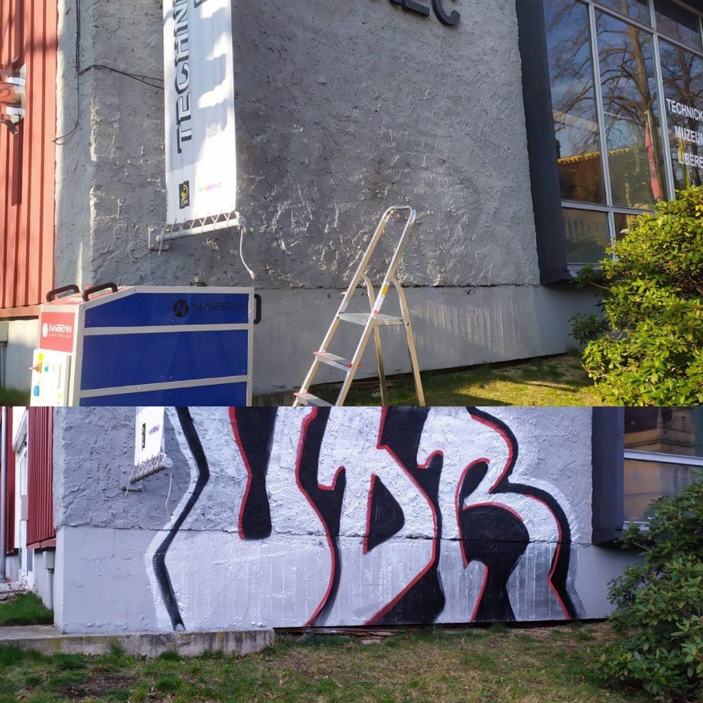graffiti, laser, čištění, laser graffiti removal